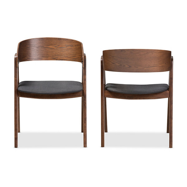 Baxton Studio Tatum 2-Piece Dining Chair Set