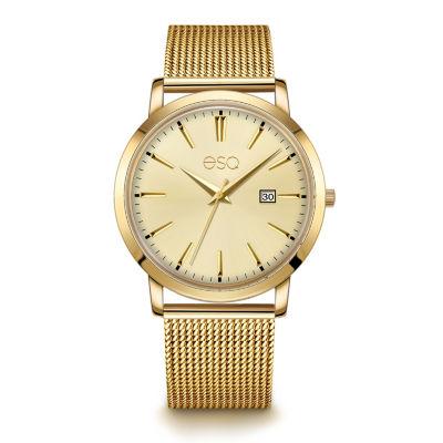 Esq Mens Gold Tone Bracelet Watch-37esq004201a