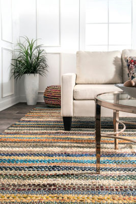 nuLoom Erasmo Stripes Cotton Rug