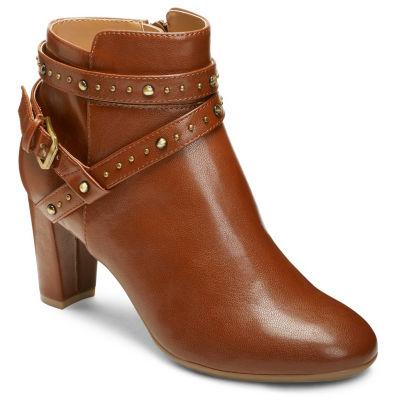 A2 by Aerosoles Womens Octave Block Heel Slip-on Booties