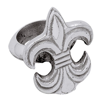 St. Croix Trading Kindwer Silver Fleur de Lis Napkin Holder