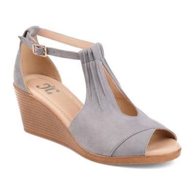 Journee Collection Jc Kedzie Womens Wedge Sandals