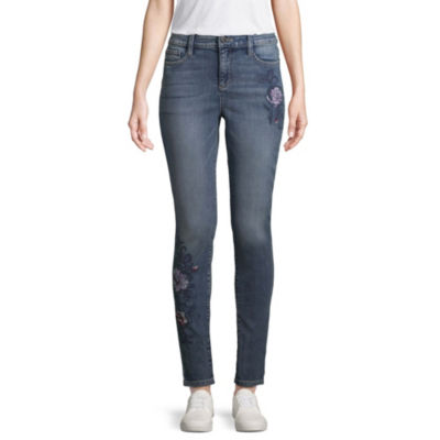 St. John's Bay Embroidered Skinny Fit Jean