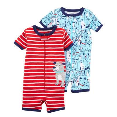 Carter's Short Sleeve Zip Front 2 Pack Pajama Set - Toddler Boys 2T-5T