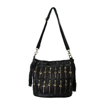Amerileather Zippety Leather Shoulder Bag