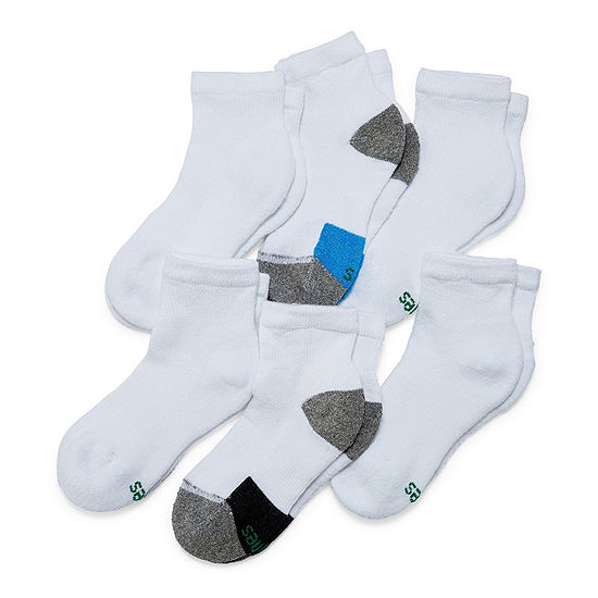 Hanes X Temp Ankle 6 Pair Quarter Socks - Boys