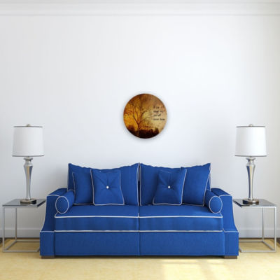 Motivational Wall Art Never Know 16-inch Round
