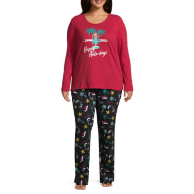 North Pole Trading Co. Knit Pant Pajama Set-Plus