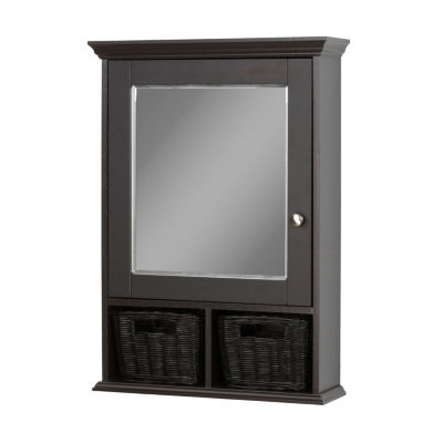 Zenna Home Espresso Medicine Cabinet