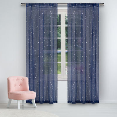 Lala + Bash Luna 2-Pack Rod-Pocket Sheer Curtain Panels