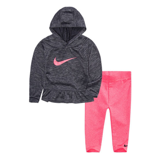 Nike 2-pc Hoodie Legging Set-Toddler Girls