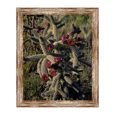 Cholla Cactus Framed Canvas Art