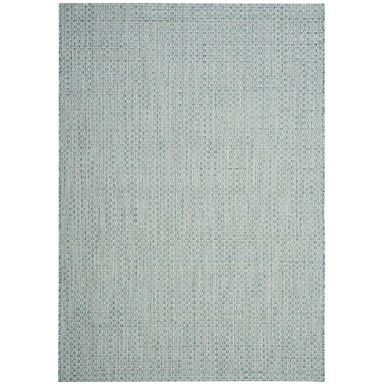 Safavieh Courtyard Collection Blanca Geometric Indoor Outdoor Square Area Rug