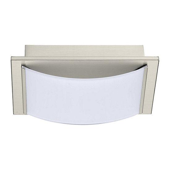 "Eglo Wasao LED 8"" Matte Nickel Vanity Ceiling Dual Mount Wall Light"