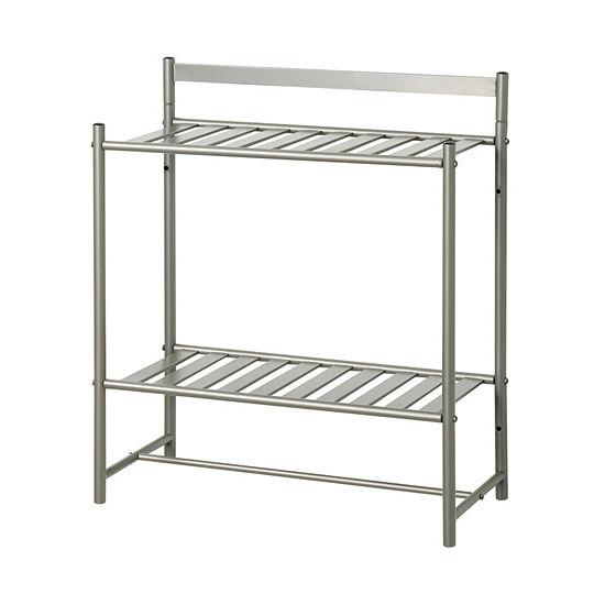 Zenna Home Slat Style 2-Shelf Bathroom Shelf