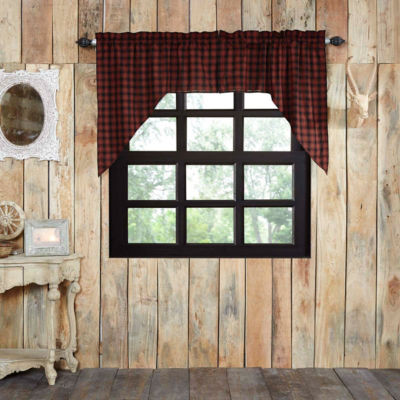 Rustic & Lodge Window Cumberland Swag Pair