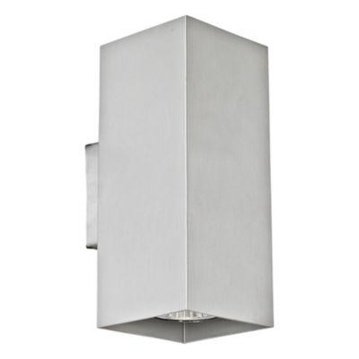 """Eglo Madras 2-Light 4"""" Aluminum Wall Light"""
