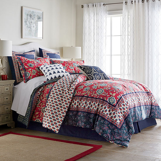 JCPenney Home Antibes 4-pc. Comforter Set, Color: Multi