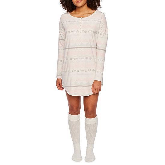 a12bdb4e82 Sleep Chic Nightshirt With Knee High Cozy Socks - JCPenney