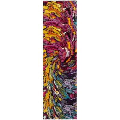Safavieh Lilly Abstract Shag Rectangular Runner