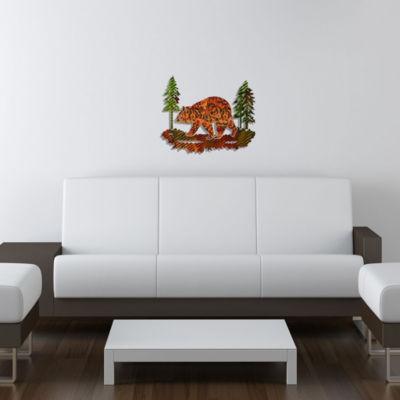 Metal Bear Wall Art Cedarberry Medium Bear