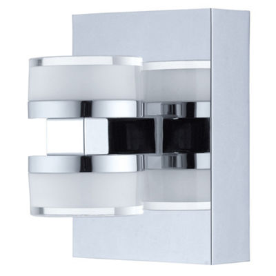 "Eglo Romendo LED 4"" Chrome Vanity Wall Light"