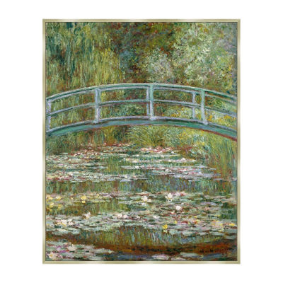 Water Lily Pond Framed Canvas Art