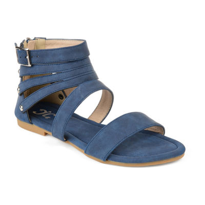 Journee Collection Womens Jc Esence Ankle Strap Flat Sandals