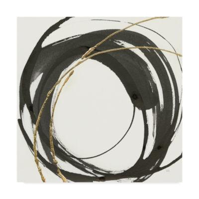 Trademark Fine Art Chris Paschke Gilded Enso IV Giclee Canvas Art