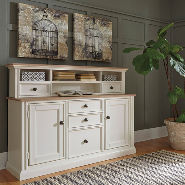 Signature Design by Ashley® Sarvanny Credenza and Hutch