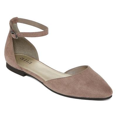 a.n.a Womens Darrell Ballet Flats Strap Closed Toe