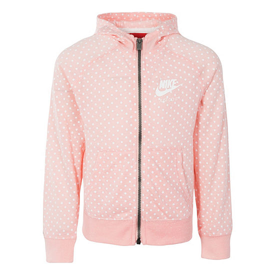 Nike Gym Vintage Full Zip Hooded Jacket - Girls Pre-School 4-6X