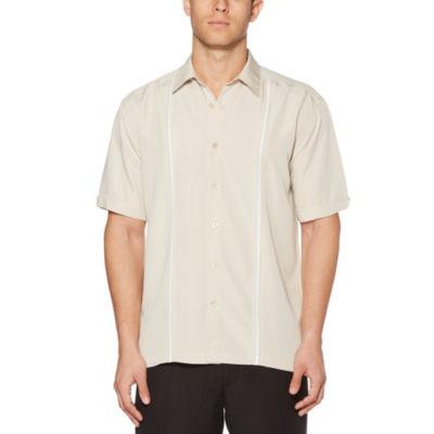 Cubavera Short Sleeve Button-Front Shirt-Big and Tall