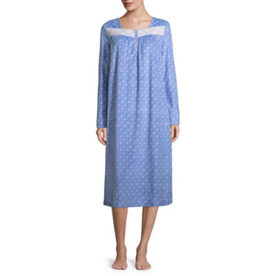 Adonna Microfiber Long Sleeve Nightgown