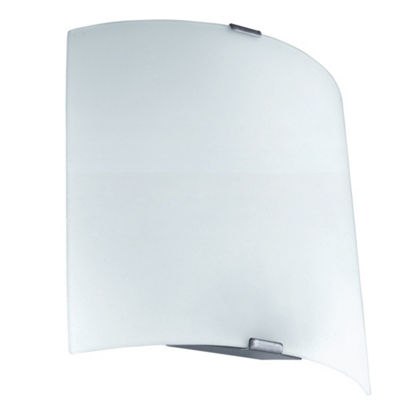 Eglo Grafik LED Silver Wall Light White Glass