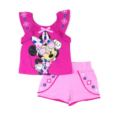 Disney 2-pc. Minnie Mouse Short Set Toddler Girls