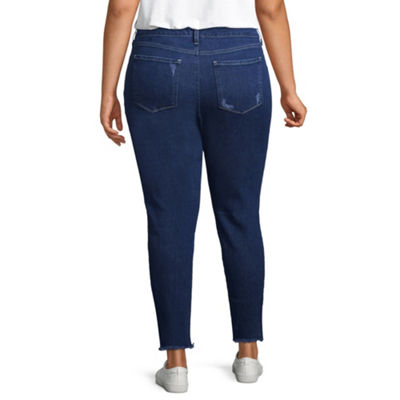 Arizona Womens Mid Rise Jeggings - Juniors Plus