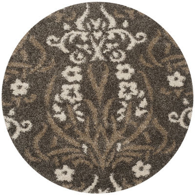 Safavieh Shag Collection Tristen Floral Round AreaRug