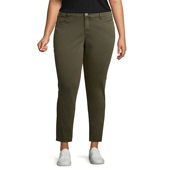 Arizona Womens Mid Rise Slim Jeggings - Juniors Plus