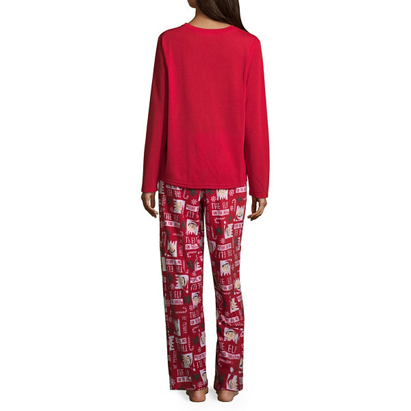 Elf on the Shelf 100 Womens Pant Pajama Set 2-pc. Long Sleeve Family