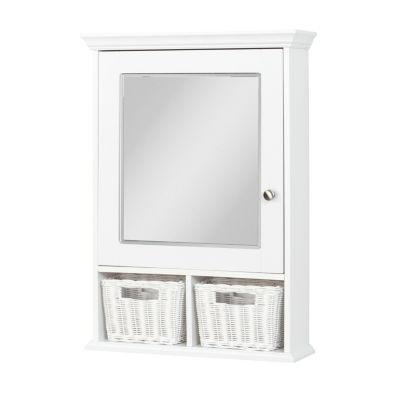 Zenna Home White Medicine Cabinet