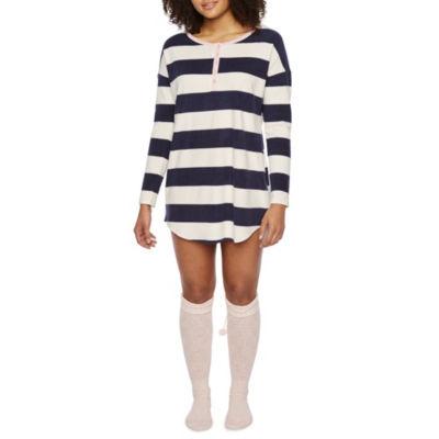 Sleep Chic Nightshirt With Knee High Cozy Socks