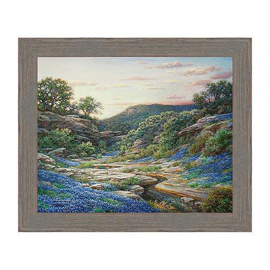 Twilight On The Blanco Framed Canvas Art