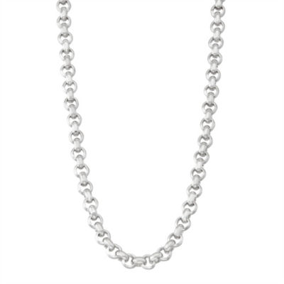 Sterling Silver 20 Inch Solid Link Chain Necklace