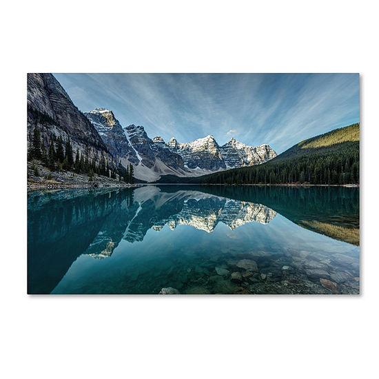Trademark Fine Art Pierre Leclerc Moraine Lake Reflection Giclee Canvas Art