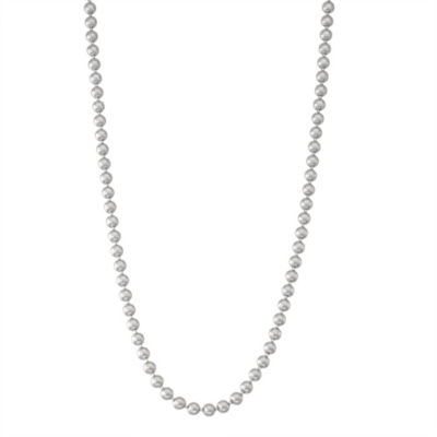 Sterling Silver Solid Bead 20 Inch Chain Necklace