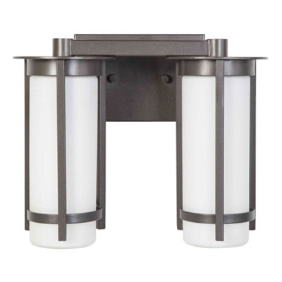 "Eglo Truxton 2-Light 13"" Graphite Bath Vanity WallLight"