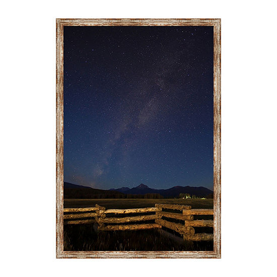 Byers Peak and The Milky Galaxy Framed Canvas Art