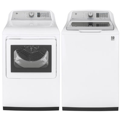 GE® Top Load 2-pc. Gas Washer & Dryer Set-  White
