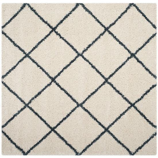 Safavieh Hudson Shag Collection Salome Geometric Square Area Rug